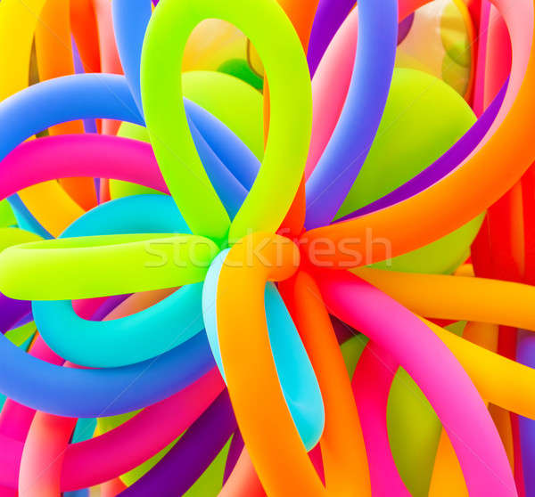 Stock photo: Colorful balloons background