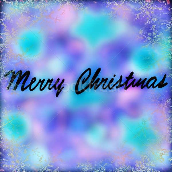 Merry Christmas greeting card Stock photo © Anna_Om