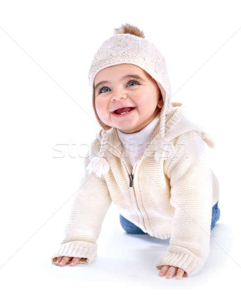 Aktif bebek portre sevimli Stok fotoğraf © Anna_Om