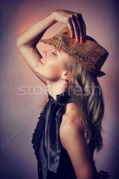 красивая женщина ночной клуб вид сбоку танцы глазах Сток-фото © Anna_Om