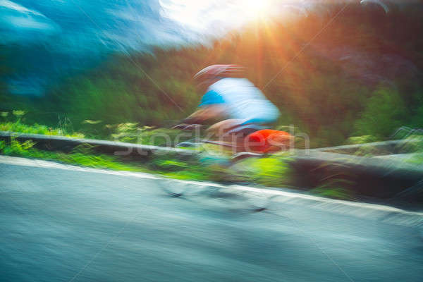 Cyclist in motion Stock photo © Anna_Om