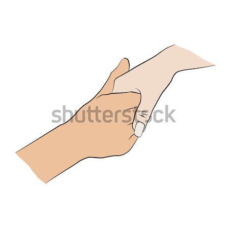 Man holding woman's hand.  Stock photo © anna_solyannikov