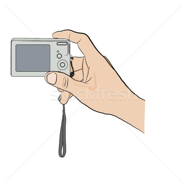 Male hand with  digitl camera.  Stock photo © anna_solyannikov