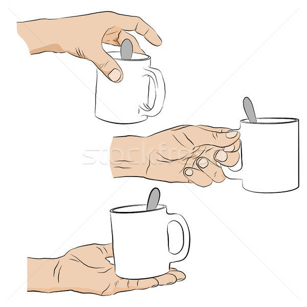 Man holding mug of coffee. Stock photo © anna_solyannikov
