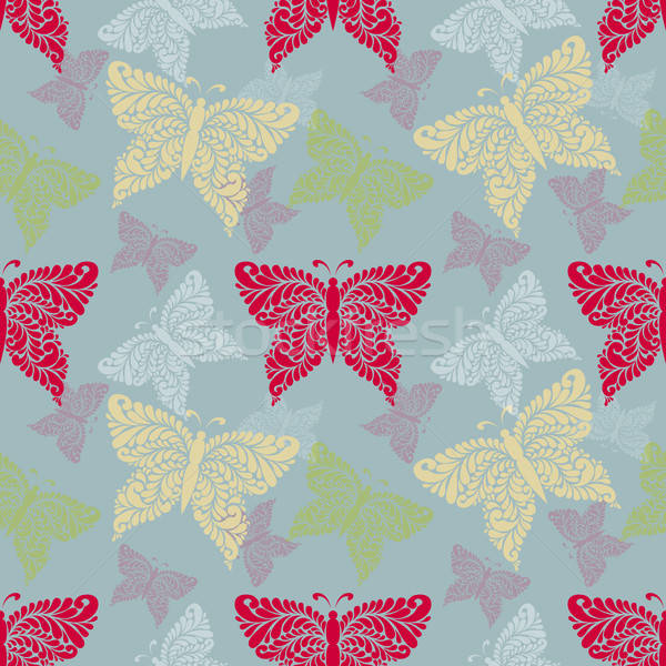 Seamless pattern with butterfly. Background, wrapper, textile. Stock photo © anna_solyannikov