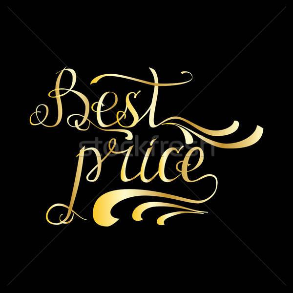 Vector  illustration gold quote 'Best price' on black background Stock photo © anna_solyannikov