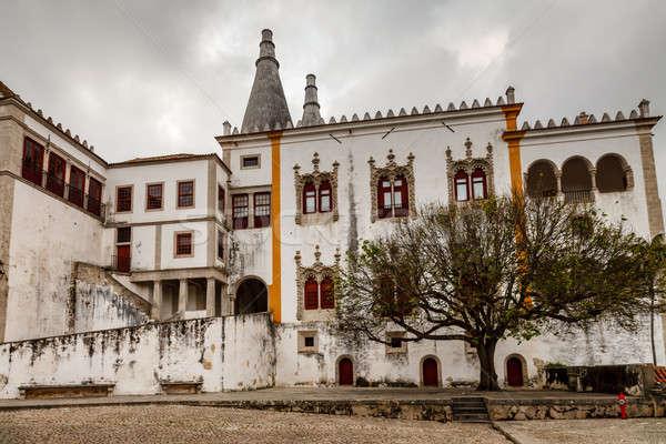 The Sintra National Palace (Palacio Nacional de Sintra), or Town Stock photo © anshar