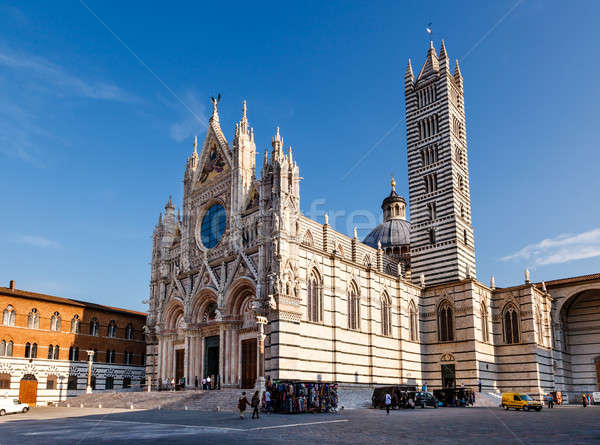 Stok fotoğraf: Güzel · katedral · Toskana · İtalya · Bina