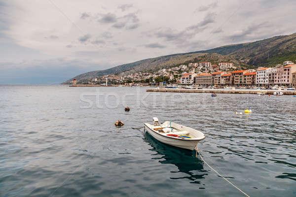 Barco ciudad Croacia agua casa Foto stock © anshar