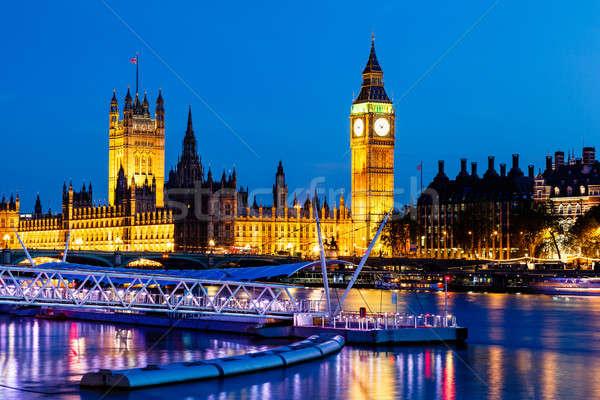 Big Ben casa parlamento notte Londra Regno Unito Foto d'archivio © anshar