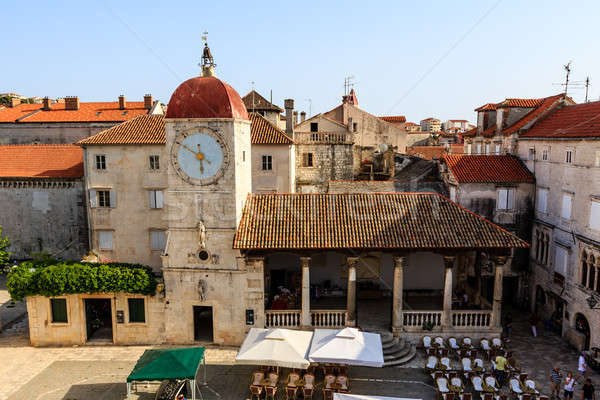 The Bell Tower in the Center of Trogir, Croatia Stock photo © anshar