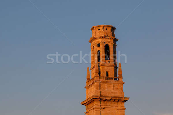 Bell Tower of Duomo Cathedral in Verona in the Morning, Veneto,  Stock photo © anshar
