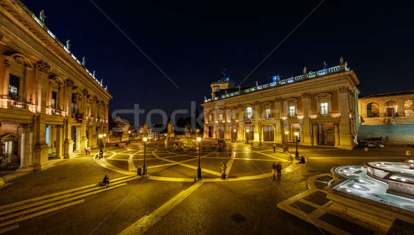 Panorama of Piazza del Campidoglio on Capitoline Hill with Palaz Stock photo © anshar