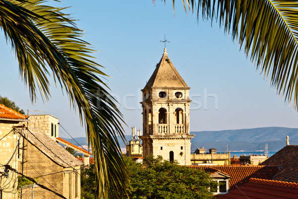 Holy Spirit Church in Omis, Croatia Stock photo © anshar