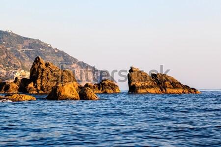 Roches coucher du soleil Italie nature été Photo stock © anshar