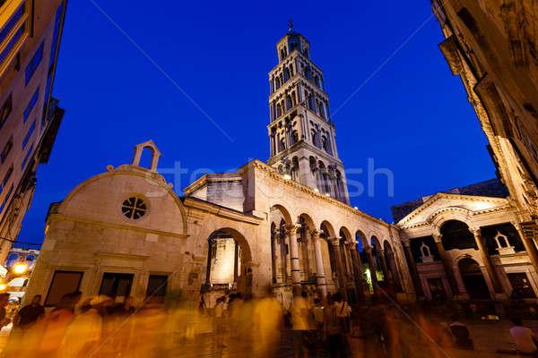 Saray akşam Hırvatistan Bina şehir kilise Stok fotoğraf © anshar