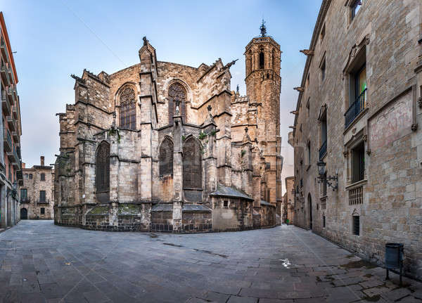 Panorama of Cathedral of the Holy Cross and Saint Eulalia, View  Stock photo © anshar