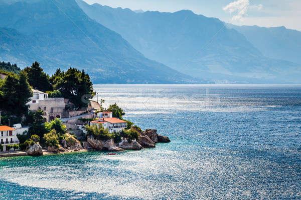 Beautiful Adriatic Beach and Lagoon with Blue Water near Split,  Stock photo © anshar