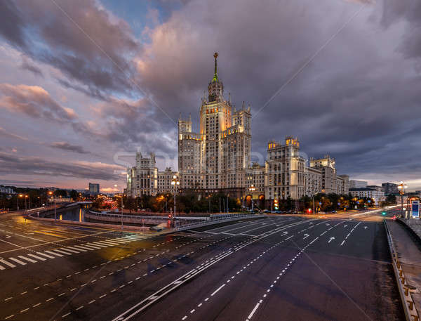 Stalin Skyscraper on Kotelnicheskaya Embankment of the Moscow Ri Stock photo © anshar
