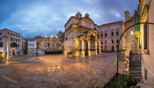 Stock photo: Panorama Saint Catherine of Italy Church and Jean Vallette Pjazz
