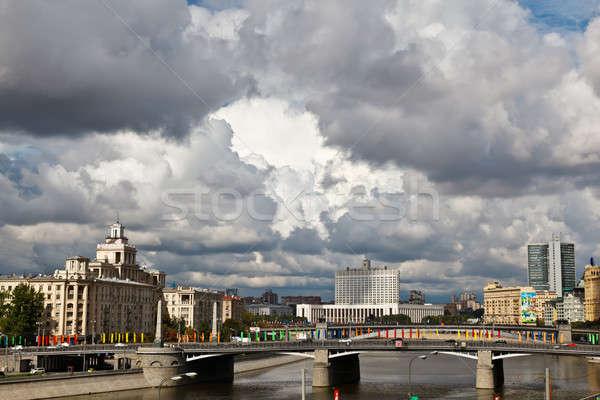 Mosca fiume casa bianca Russia acqua casa Foto d'archivio © anshar