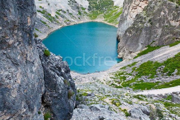 Blauw meer kalksteen krater Kroatië water Stockfoto © anshar