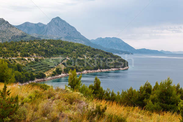 Adriatic Sea and Mountains in Croatia Stock photo © anshar