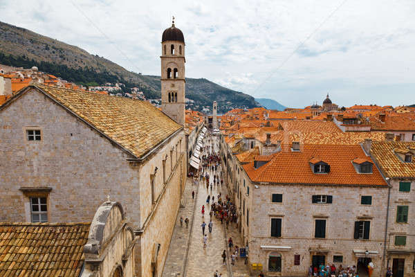 Panoramic View of Dubrovnik from the City Walls, Croatia Stock photo © anshar