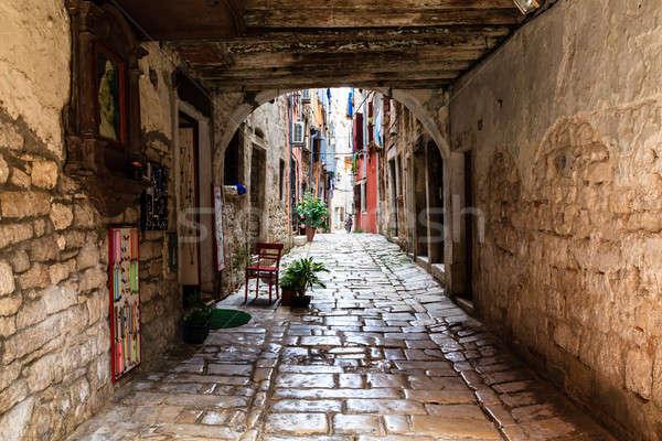 Narrow Archway in the City of Rovinj, Croatia Stock photo © anshar