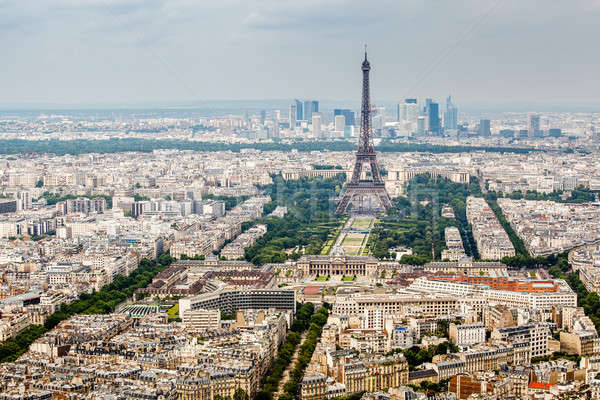 Aerial View on Champs de Mars and Eiffel Tower, Paris, France Stock photo © anshar