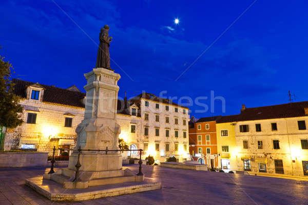 Central Square of Small Town Makarska in Dalmatia, Croatia Stock photo © anshar
