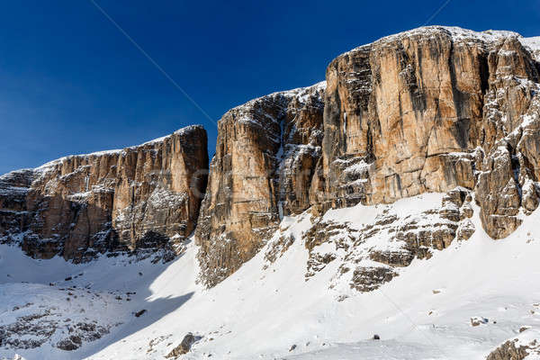 Peak of Vallon on the Skiing Resort of Corvara, Alta Badia, Dolo Stock photo © anshar