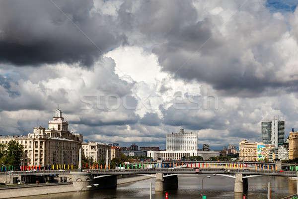 Moskou rivier witte huis Rusland huis gebouw Stockfoto © anshar
