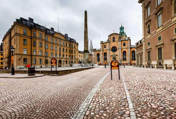 Kraliyet saray katedral aziz Stockholm İsveç Stok fotoğraf © anshar