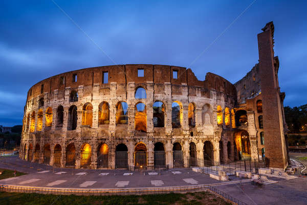 Colosseum or Coliseum, also known as the Flavian Amphitheatre in Stock photo © anshar