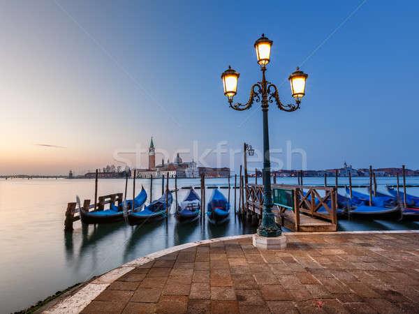 канал Церкви рассвета Венеция Италия морем Сток-фото © anshar