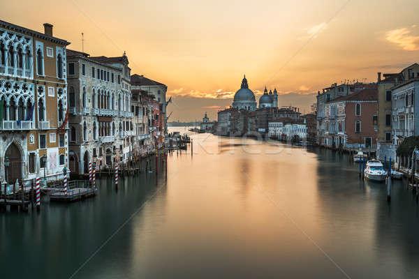 Grand Canal and Santa Maria della Salute Church from Accademia B Stock photo © anshar