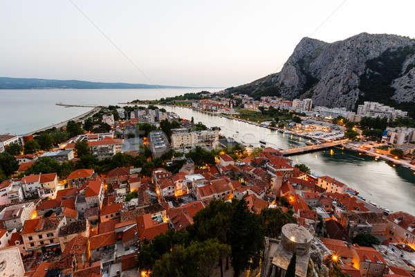 города вечер Хорватия мнение Сток-фото © anshar