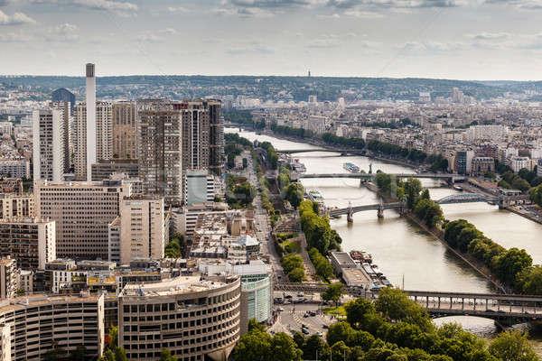 Foto stock: Rio · Torre · Eiffel · Paris · França · céu