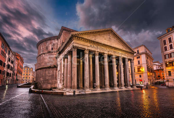 Piazza della Rotonda and Pantheon in the Morning, Rome, Italy Stock photo © anshar
