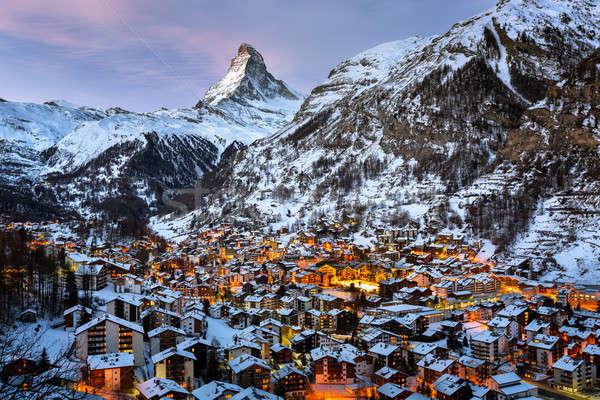 Foto d'archivio: Valle · mattina · Svizzera · casa