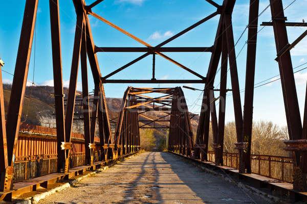 Old Rusty Bridge across Volga River near Samara, Russia Stock photo © anshar