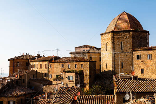 Dome and Houses in the Small Town of Volterra in Tuscany, Italy Stock photo © anshar