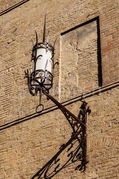 Old Iron Lantern in Siena, Tuscany, Italy Stock photo © anshar