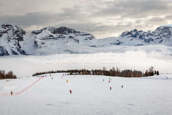 Ski Slope near Madonna di Campiglio Ski Resort, Italian Alps, It Stock photo © anshar