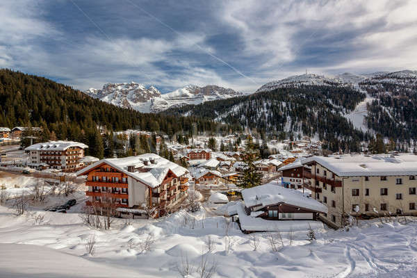Ski Resort of Madonna di Campiglio, View from the Slope, Italian Stock photo © anshar
