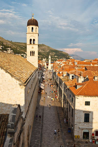 View on Stradun and Dubrovnik from the City Walls, Croatia Stock photo © anshar