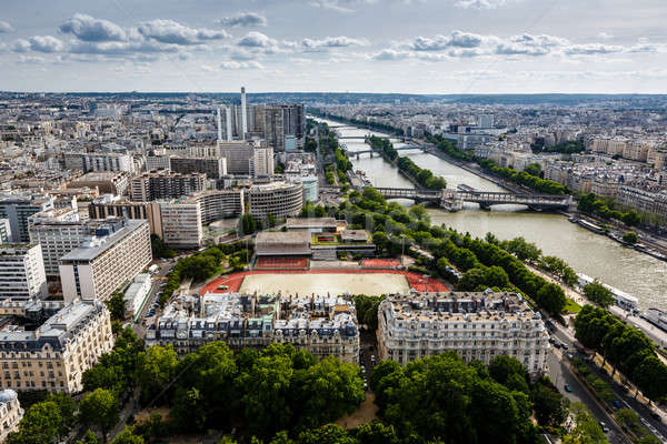 Aerial View on River Seine and Pont de Bir-Hakeim from the Eiffe Stock photo © anshar