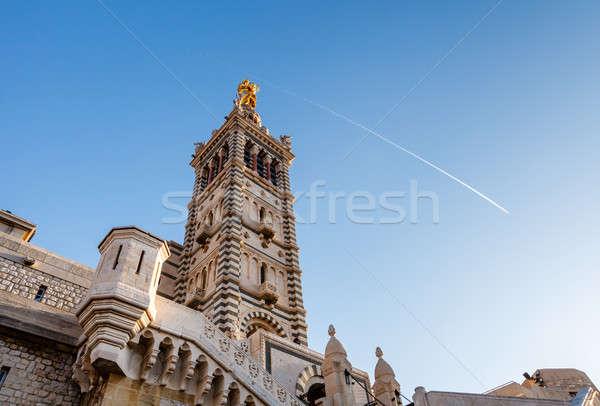 Bazilika LA Franciaország égbolt templom épületek Stock fotó © anshar