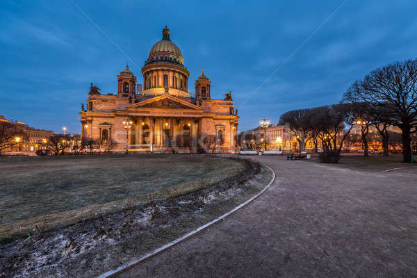 Saint Isaac's Cathedral in the Evening, Saint Petersburg, Russia Stock photo © anshar
